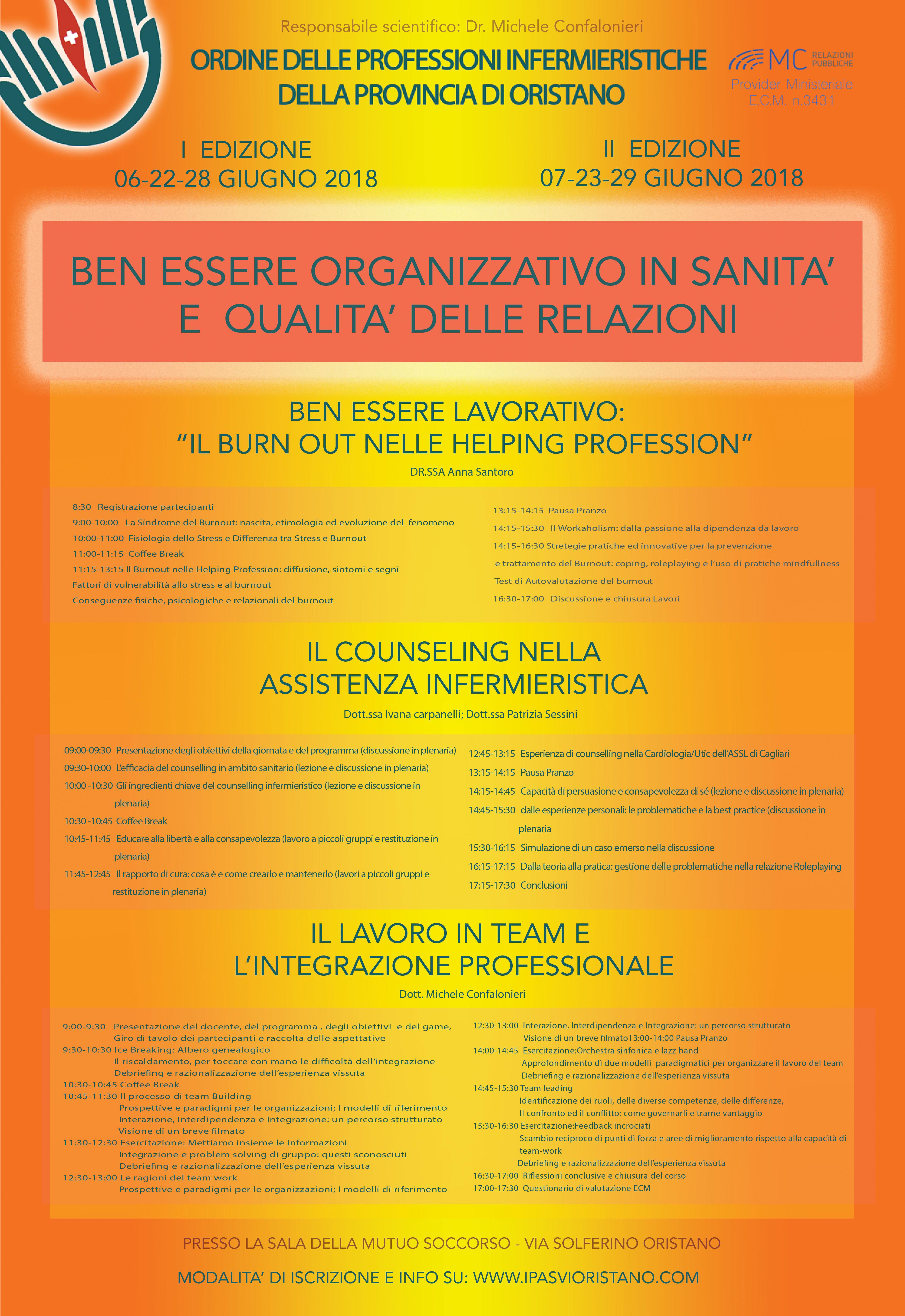 BEN-ESSERE ORGANIZZATIVO IN SANITÀ E QUALITÀ DELLE RELAZIONI