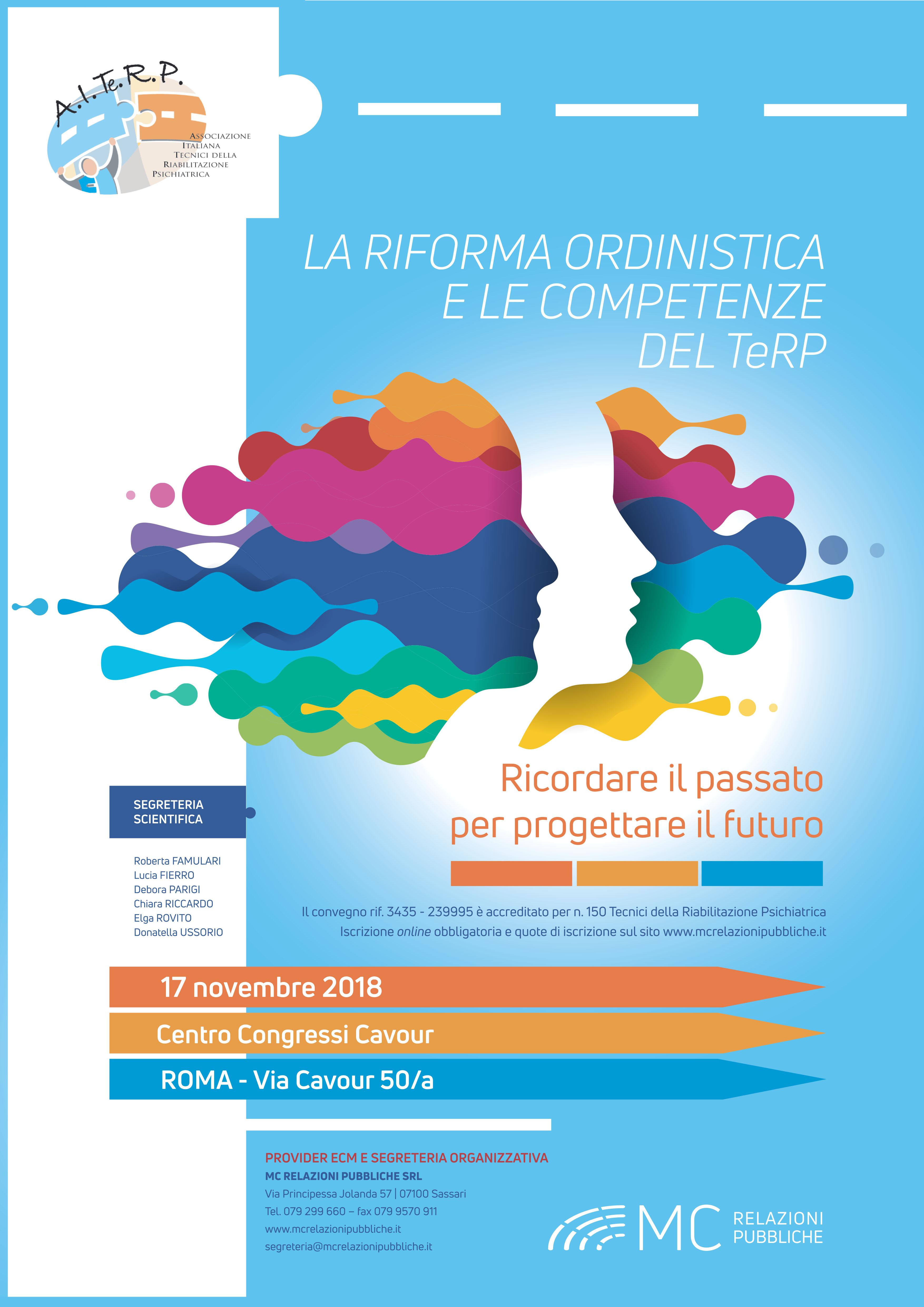 La Riforma Ordinistica e le Competenze del TeRP: ricordare il passato per progettare il futuro