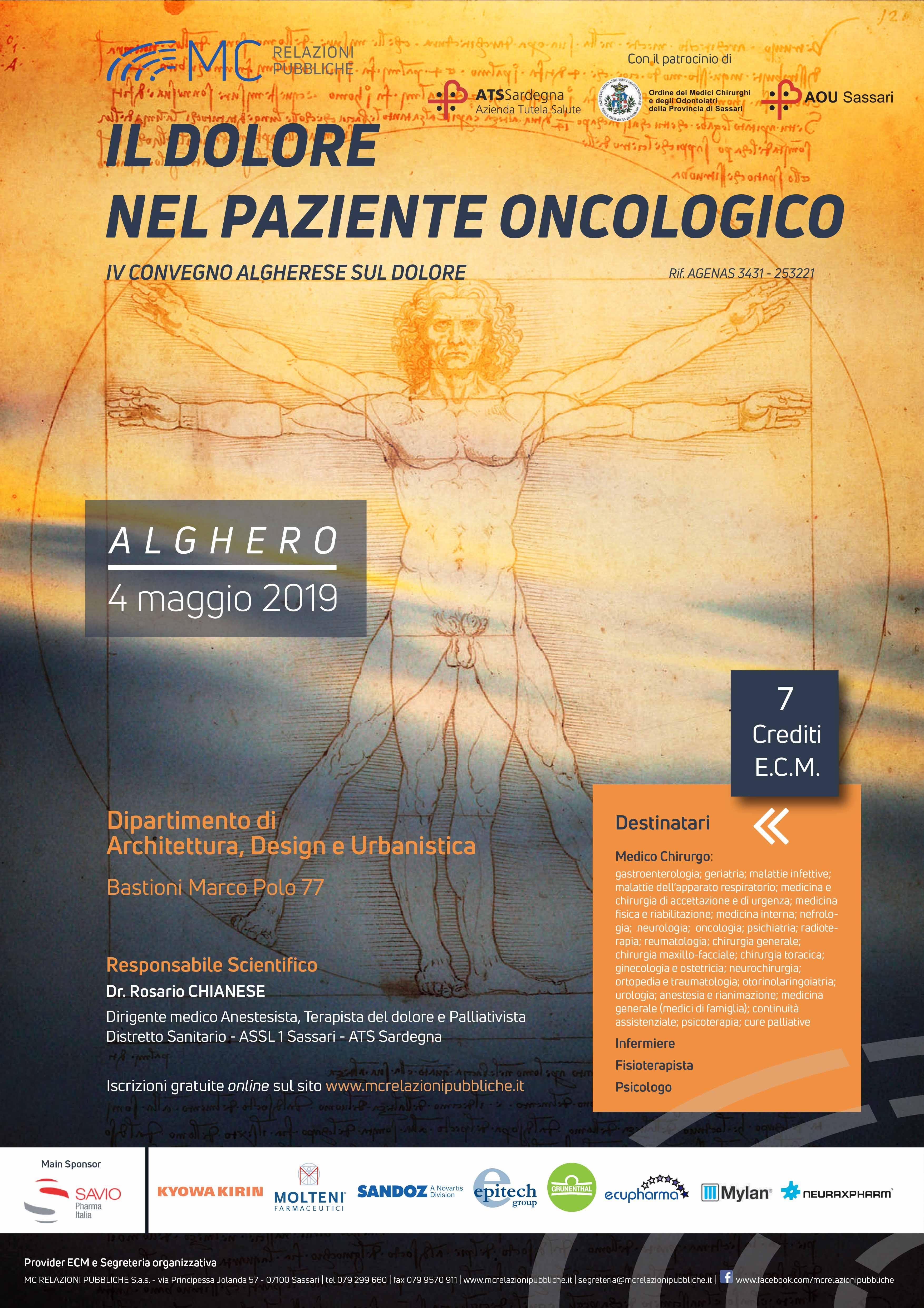 Il dolore nel paziente oncologico