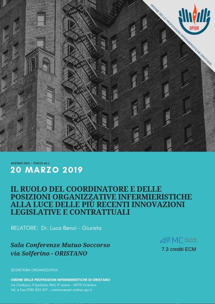 Il ruolo del coordinatore e delle posizioni organizzative infermieristiche alla luce delle più recenti innovazioni legislative e contrattuali