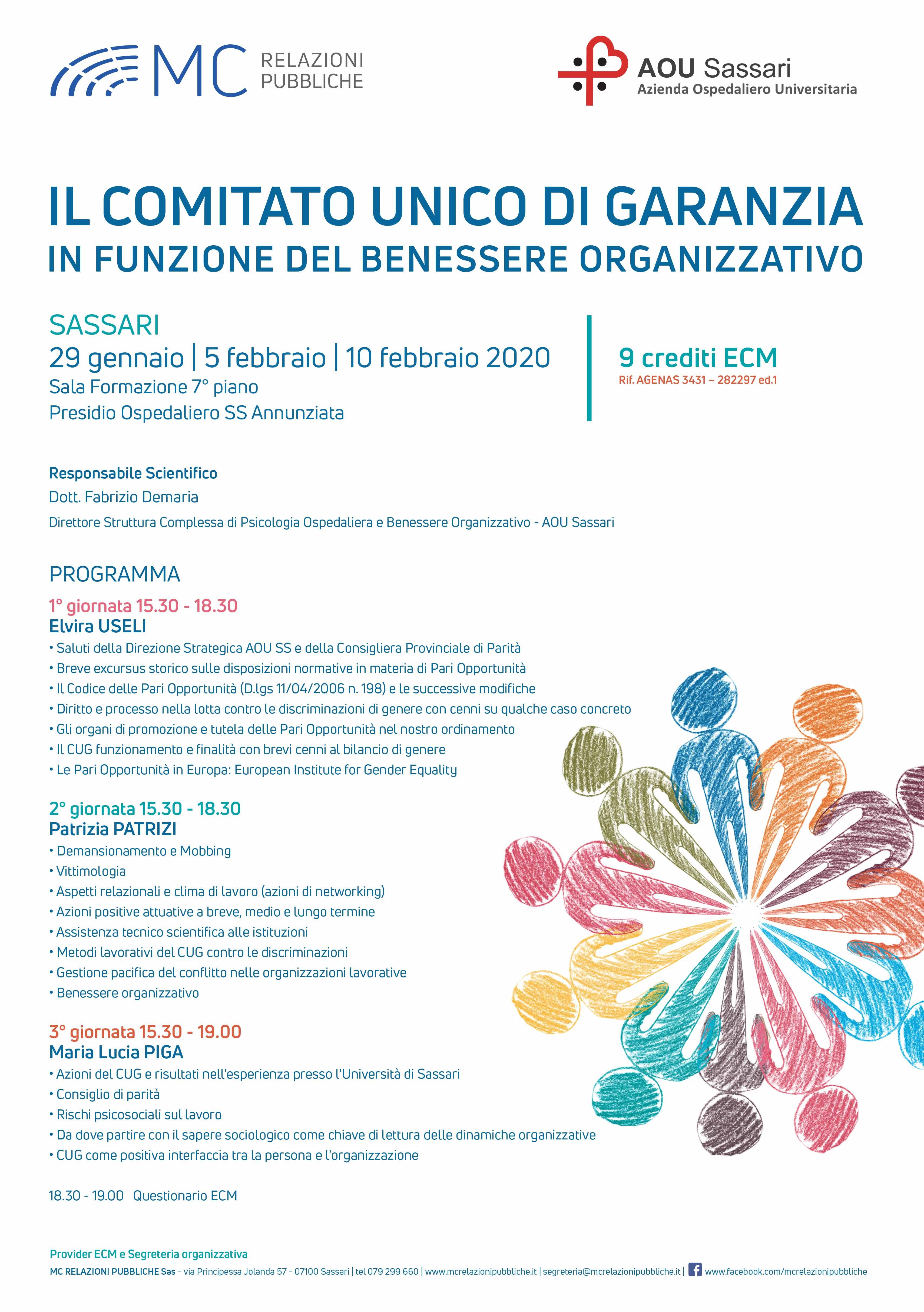 IL COMITATO UNICO DI GARANZIA IN FUNZIONE DEL BENESSERE ORGANIZZATIVO